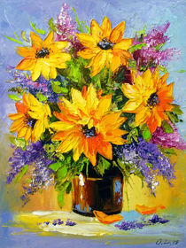 Bouquet of sunflowers von Olha Darchuk