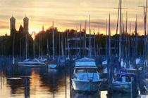 Bodensee Schiffe beim Sonnenuntergang von Christian Mueller