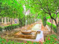 Wasserspiele im königlichen Garten S'Hort del Rei in Palma de Mallorca. von havelmomente