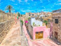 Begehbare Stadtmauer von Alcúdia in Mallorca von havelmomente