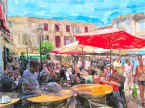 Menschen auf dem Wochenmarkt in Sineu auf Mallorca. by havelmomente