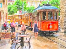 Straßenbahn in Sóller auf Mallorca. by havelmomente