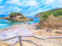Mittelmeerküste. Landschaft am Playa de S'Illot  by havelmomente