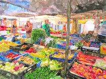 Frisches Gemüse auf dem Markt in Alcúdia auf Mallorca by havelmomente
