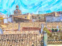 Über den Dächern von Alcudia auf Mallorca. von havelmomente