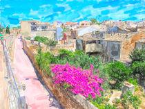 Alte Stadtmauer von Alcúdia Mallorca. von havelmomente