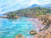 Landschaft am Playa de S'Illot  von havelmomente