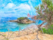 Urwüchsige Landschaft am Playa de S'Illot  von havelmomente