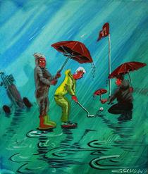 Golf im Regen von Mr. TSCHUWIE
