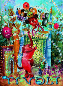The Elephant Of Tivoli Gardens von Miki de Goodaboom