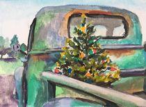 Old Truck with Christmas Tree von Susan Elizabeth Jones