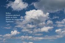 Wolkenbild mit Elfchen von Gabi Emser