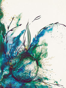 Abstract Sea Watercolour by Sybille Sterk