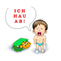 Ich hau ab! by Peter Holle