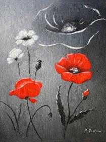 Roter Mohn - Mohnblumenbild von Marita Zacharias