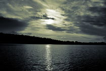 Dramatic sky over a lake - duotone by Intensivelight Panorama-Edition