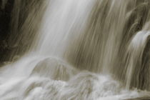 Waterfall flowing over rocks - sepia by Intensivelight Panorama-Edition