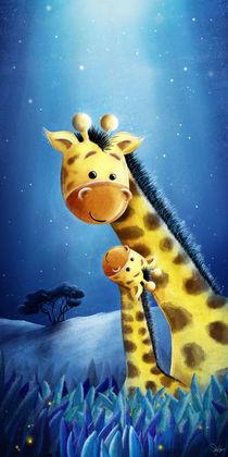 Giraffe mit Kind von Stefan Lohr