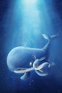 süßer Walfisch mit Baby by Stefan Lohr