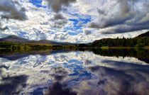 Water Reflections-Loch Rannoch,Perth-shire in the Highlands of Scotland by Dave Harnetty