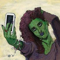 Goblin Girl Cell Phone Selfie Fantasy Art von Ted Helms