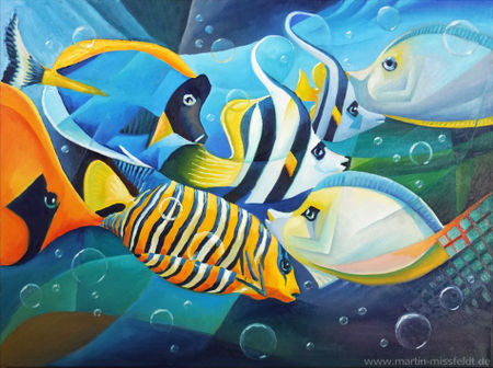 Fische-kubistisch-print