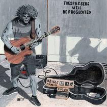 Undead Zombie Guitar Rock Musician Fantasy Art von Ted Helms