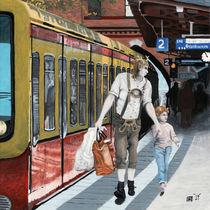 German Elf Family Shopping Train Trip Fantasy Art von Ted Helms