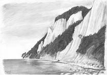 Kreidefelsen auf Rügen (Bleistiftzeichnung) by Martin Mißfeldt