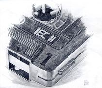 Zeichnung einer Kassette by Martin Mißfeldt