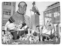 The City Square von Barbara Daniels Art