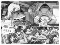 The Human Market von Barbara Daniels Art