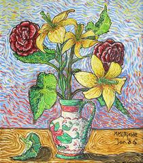 Kunstdruck Blumen in Vase
