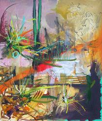 Kunstdruck abstrakte Landschaft - Sonnenuntergang von Martin Mißfeldt