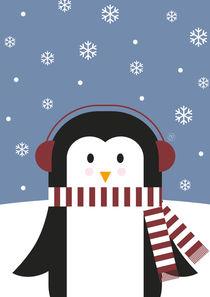 Paul Pinguin im Schnee von Carolin Vonhoff
