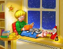 Kuschelig lesen mit einem warmen Kakao by Peter Holle