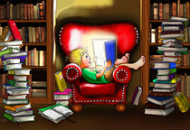 Der kleine Leser im Lesefieber by Peter Holle