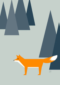 Fuchs im Wald von Carolin Vonhoff