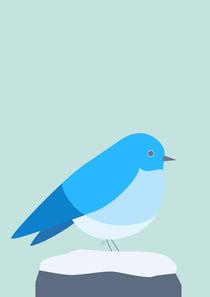 blaues Vögelchen - blue bird von Carolin Vonhoff
