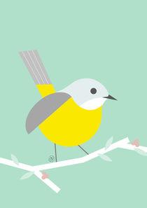 gelbes Vögelchen - yellow robin von Carolin Vonhoff