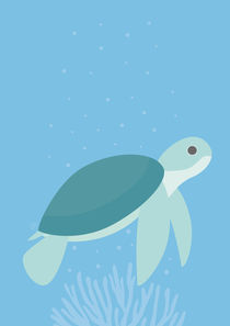 Meeresschildkröte von Carolin Vonhoff