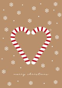 Merry Christmas - Zuckerstangenherz von Carolin Vonhoff