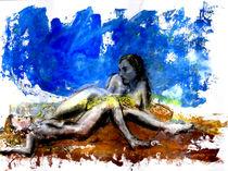 Zwei vor blauem Grund by Caro Rhombus van Ruit