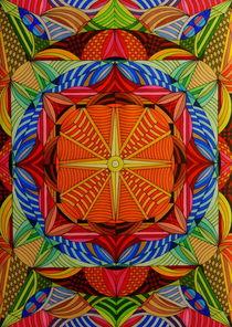 Cross in orange by Wolfgang Johann Suhadolnik
