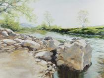 Felsen am Fluss von Helen Lundquist