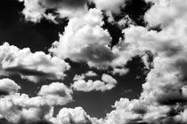 Low angle view of  cumulus clouds by Jim Corwin