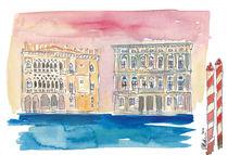 Venedig Italien Palazzo am Kanal von M.  Bleichner