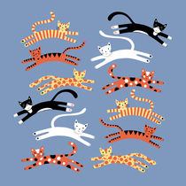 Cats Leaping by Nic Squirrell