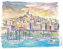 Marseille Frankreich Hafen am Mittelmeer  by M.  Bleichner