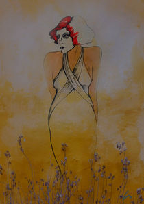 Lady im Blumenfeld by Kiki de Kock
